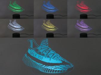 Laser Cut  YZY  3D Illusion Sneaker LED