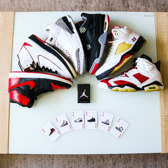 Hypebeast Air Jordan 1 to Air Jordan 13 Playing Poker Cards