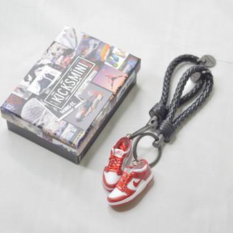 "SB Dunk Low ""University Red"" 3D Sneaker Keychain"