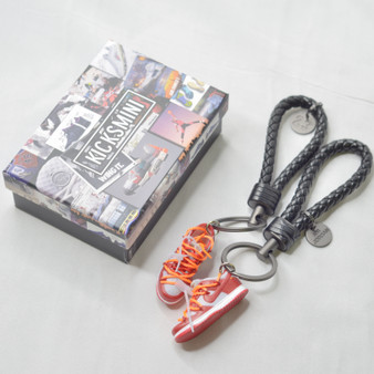 """SB Dunk Low OW """"University Red"""" 3D Sneaker Keychain"""