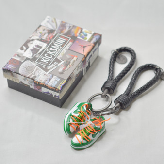 Dunk Low OW Pine Green 3D Sneaker Keychain