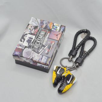 """Kobe 1 """"Black Maize"""" 3D Sneaker Keychain"""