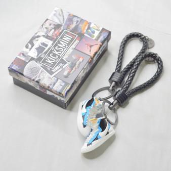"Blazer Mid ""Sacai"" White Black Legend Blue 3D Sneaker Keychain"