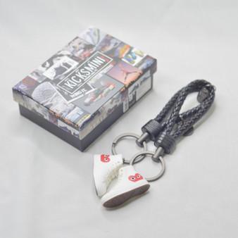 """Converse x """"Comme Des Garcons"""" White 3D Sneaker Keychain"""