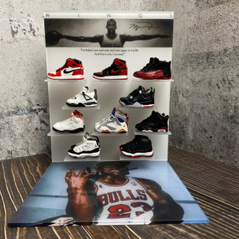 Ultimate Hypebeast Michael Jordan with 10 Pairs Mini Sneaker Display Set
