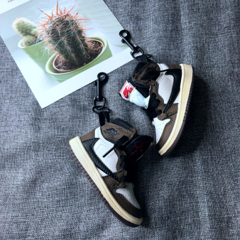 "Handcrafted ""AJ1 Travis Scott High"" Bag Charm"
