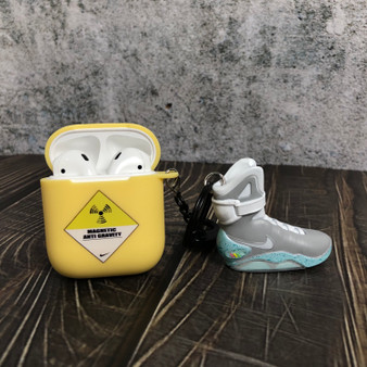 "Air Mags ""Back to Future"" AirPods Silicone Soft Case with 3D mini Sneakers"