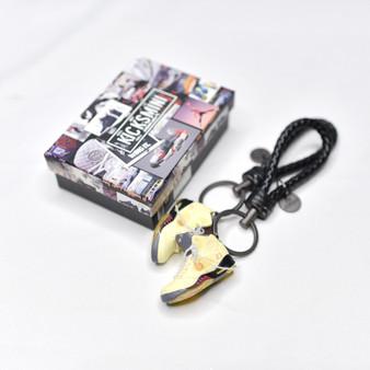 "AJ5 ""Off-White Sail""  3D Sneaker Keychain"