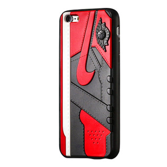 "AJ1 ""Bred/Banned"" 3D Textured iPhone Cases"