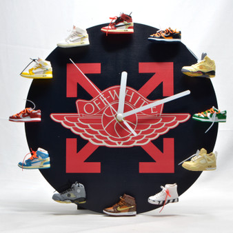 Off-White Style 3D Sneaker Clock with Mini Sneakers