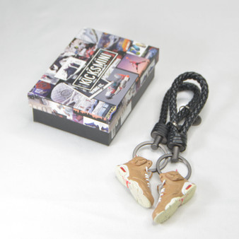 "AJ6  ""Travis Scott British Khaki "" 3D Sneaker Keychain"