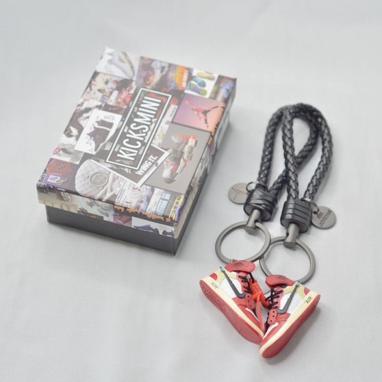 "AJ1 ""OW Chicago"" 3D Sneaker Keychain"