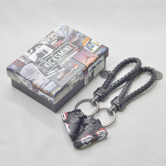 "AJ6  ""Infrared Black""  3D Sneaker Keychain"