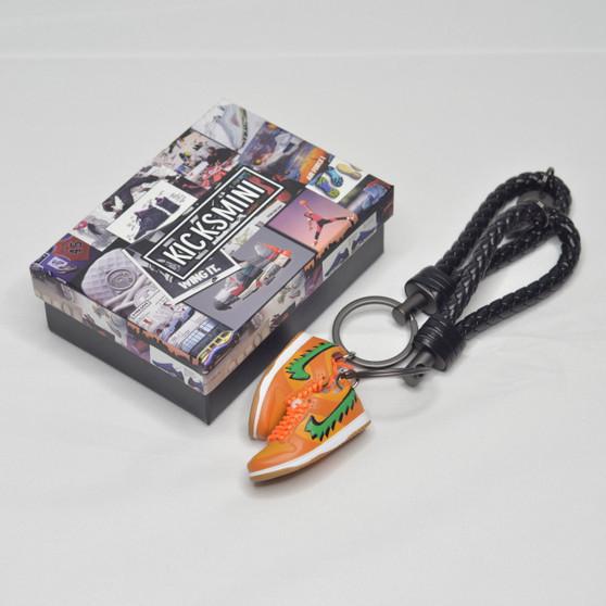 """SB Dunk Low """"Grateful Dead Bear Orange"""" 3D Sneaker Keychain"""