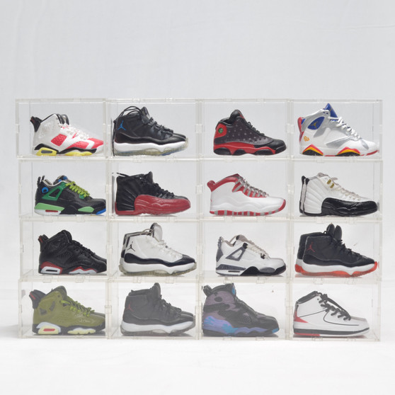 AJ2-AJ13 Mini Sneakers Collection with Display Storage Case