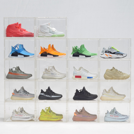 Yeezy/NMD Mini Sneakers Collection with Display Storage Case