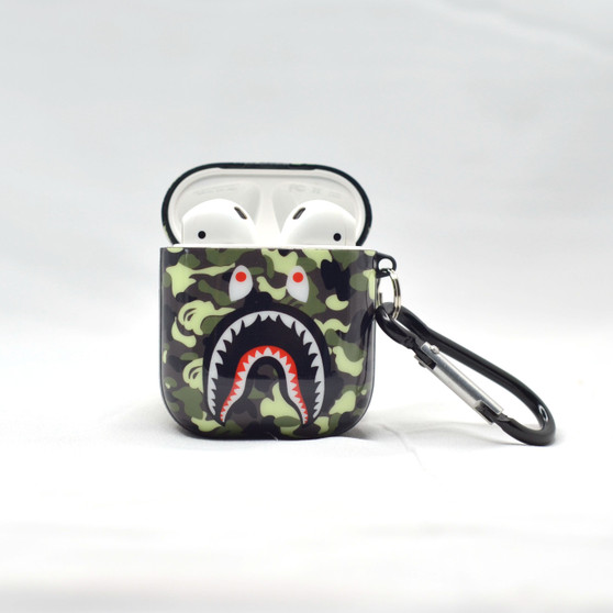 Bape/Shark Camo Inspired AirPods and Airpods Pro Silicone Soft Case
