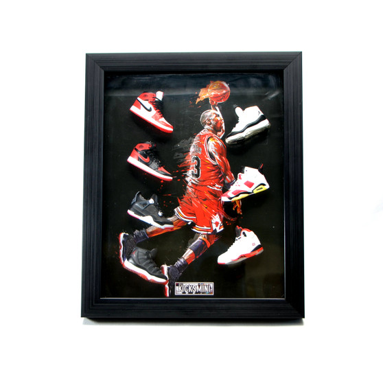 Michael Jordan 3D Sneakers Photo Frame came with 7  Mini Sneakers
