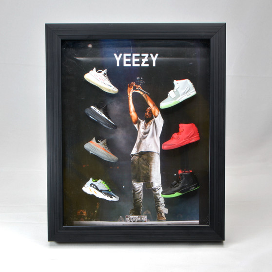 Kanye West  3D Sneakers Photo Frame came with 7  Mini Yeezy Sneakers