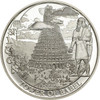 Tower of Babel white - Biblical Stories Silver Proof Coin 2$ Palau 2016