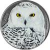 SNOWY OWL 1 Oz Silver Coin 1000 Francs Burkina Faso 2016