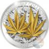 HEMP LEAF 3D Gold Leaf Collection 1 Oz Silver Coin 5$ Samoa 2017