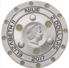 UFO ROSWELL INCIDENT 70th Anniversary Silver Coin 2$ Niue 2017