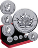 1967-2017 MAPLE LEAF TRIBUTE - 4 Silver Coins Fractional  set  Canada