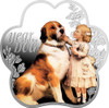 YEAR OF THE DOG Christening Gift Silver Coin 1$ Niue 2018