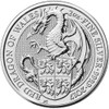 THE RED DRAGON OF WALES - THE QUEEN'S BEASTS 2 oz Silver Coin 2017 UK