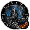 GRIM REAPER Death Maple Leaf Armageddon 1 Oz Silver Coin 5$ Canada 2016