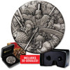 Warfare - Roman Legion 2 oz Silver Antiqued High Relief Coin 2018 comlp