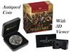 WARFARE – ROMAN LEGION 2018 2oz Silver Antique HIGH RELIEF Coin 3D VIEW