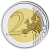 Colored Coin 2 EURO with OGP 2018