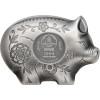 JOLLY PIG Lunar Year 1 Oz Silver Coin 1000 Togrog Mongolia 2019