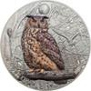 EAGLE OWL Night Animals 1 Oz Silver Coin 5$ Cook Islands 2018