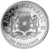 2019 ELEPHANT 1 Oz Silver Color Coin Somalia