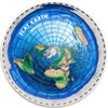 FLAT EARTH Great Conspiracies 2 Oz Silver Coin 10$ Palau 2019