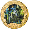 FRANKENSTEIN 200th Ann. Set 3 Gold Plated Coins - Glow in Effect Tokelau 2019