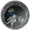 MOON LANDING 50th Ann. Glow-in-dark Silver Coin 20€ Euro Austria 2019
