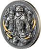 NIZARIS ASSASSINS – 2 oz Silver Coin Antique Finish w/Gold Gilding 2019 Niue
