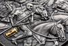 3 oz FOUR HORSEMEN OF THE APOCALYPSE Silver High Relief Coin Cameroon 2019