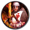 BURNING LEOPOLD V 1 oz Silver Ruthenium- Color coin 2019