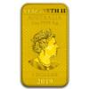 2019 1oz Australian Silver Dragon Colorized Gold Gilded Rectangle Coin