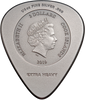 AC/DC Guitar Pick Plug me in $2 Silver Coin Cook Islands 2019
