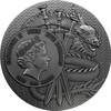 LU BU Warriors of Ancient China Gold Plating 3 Oz Silver Coin Niue 2019