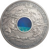 CHICXULUB Crater METEORITE High Relief 3 oz Silver Coin Cook Is. 2019