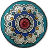 MANDALA Wheel of Life with RESIN inset 2 oz Silver Coin 2000 Fr Cameroon 2019