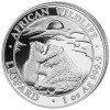 LEOPARD with cub - African Wildlife 1 oz Silver Coin 2019 Somalia