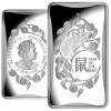 Year of the Rat - Rectangular Silver Coin $1 Australia 2020